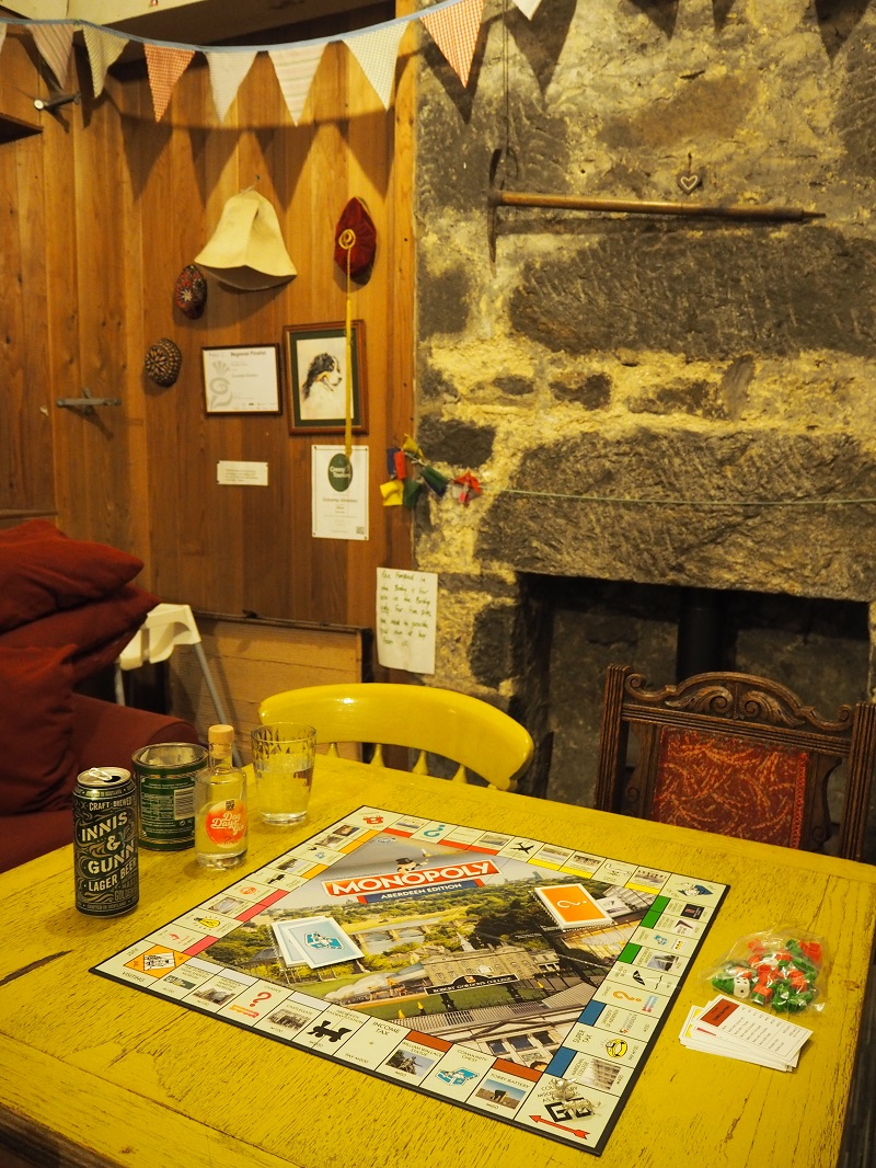 Playing Aberdeen Monopoly in the Bothy