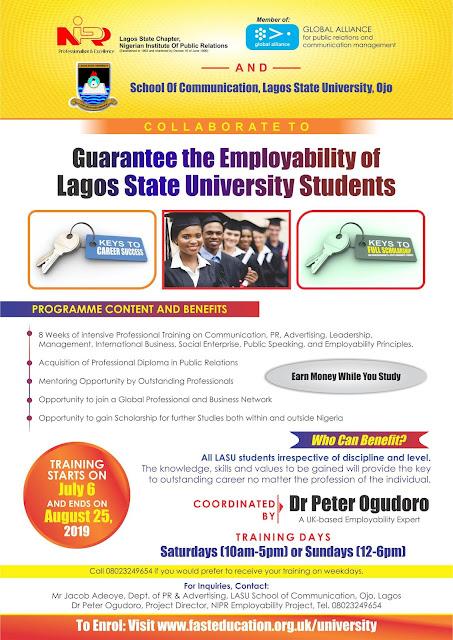LASU Professional Certification & Employability Training Program 2019
