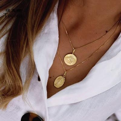 collier medaille tendance