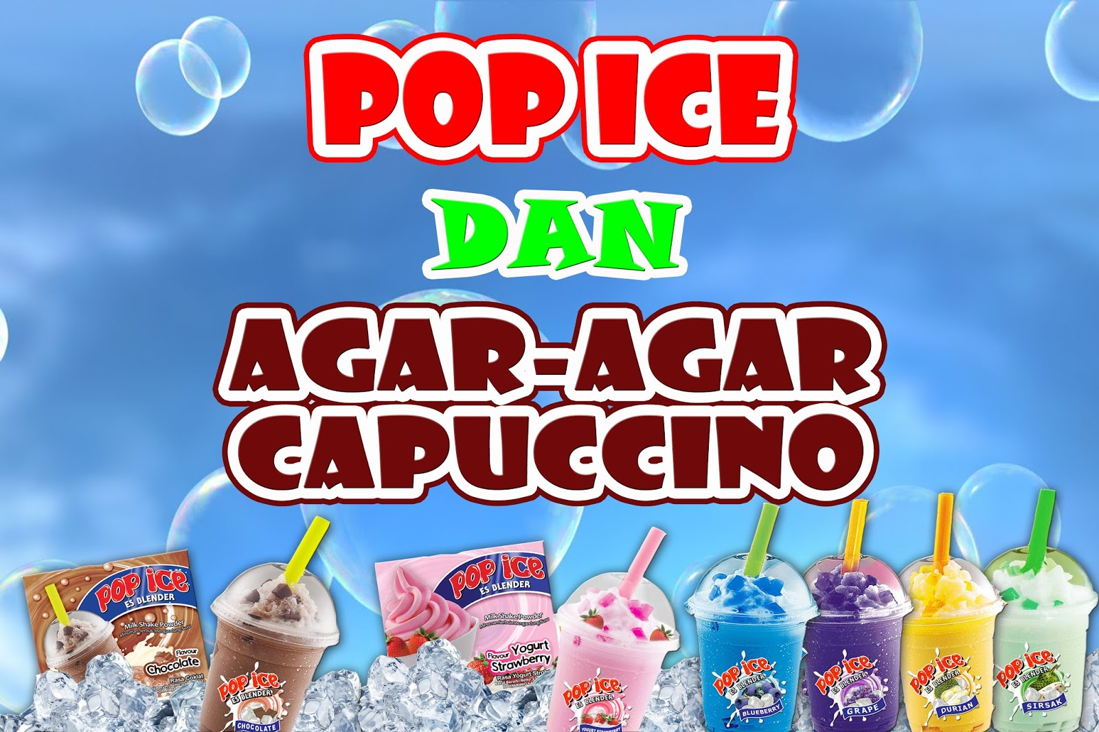 Spanduk Jual Pop Ice - desain spanduk kreatif