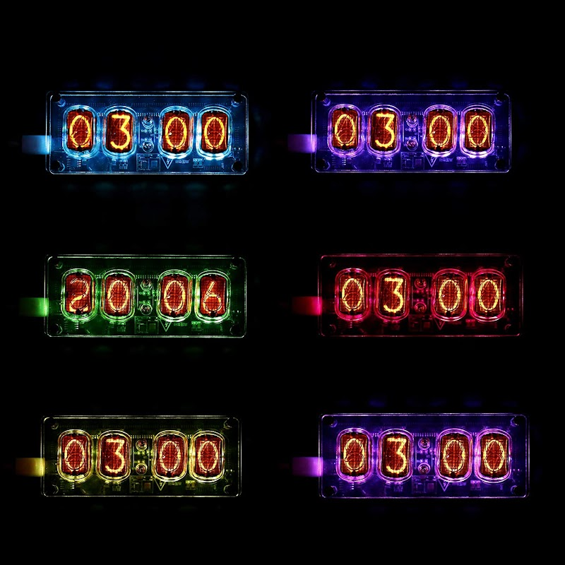 50%off Nixie Tube Clock, IN-12 Replaceable Nixie Tubes , the coolest gift for science lovers