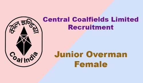 CCL Junior Overman (Female) Recruitment