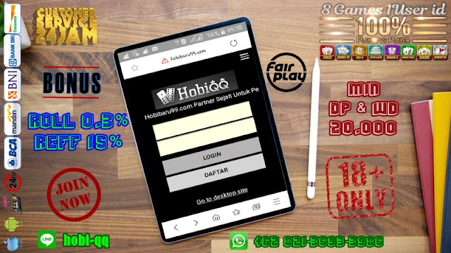 Re: HOBIQQ | Situs Judi Online | Situs Judi Online Terpercaya | Agen Poker Terbesar Dan Terpercaya | Online 24 Jam Wow