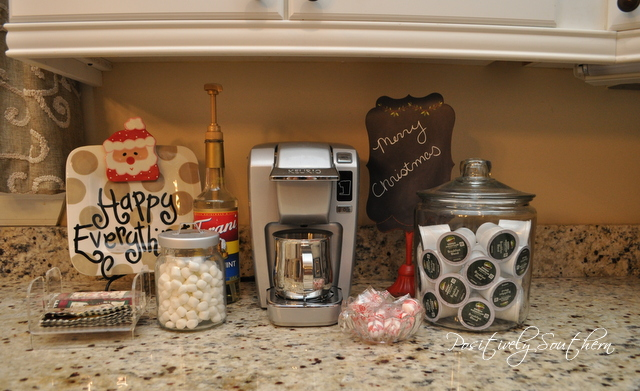 Christmas Beverage Station