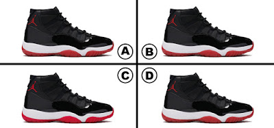 Spot the Difference Jordans Edition Quiz Answers