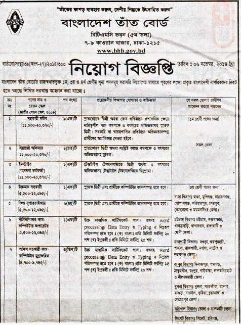 All Newspaper Jobs Bangladesh Tat Board Assistant