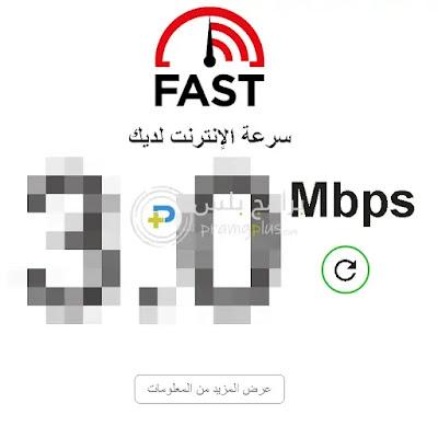 موقع Fast لقياس سرعة الانترنت