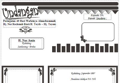 download undangan tahlil dan doa bersama 40 hari meninggal format word