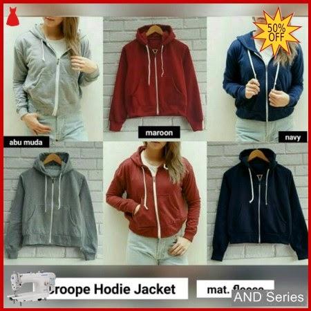 AND005 Jaket Wanita Croope Hoodie Jacket BMGShop