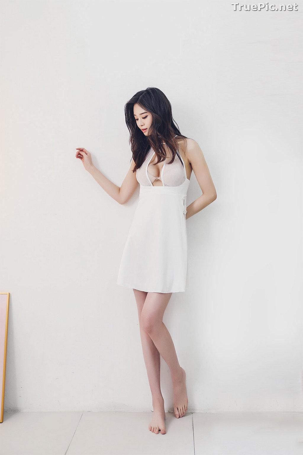 Image Korean Fashion Model - Carmen - White Sleepwear and Lingerie - TruePic.net - Picture-6