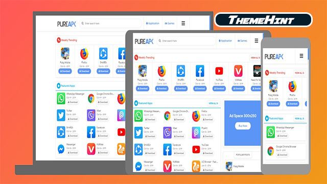 Pure APK Premium Blogger Template Free Download by ThemeHint