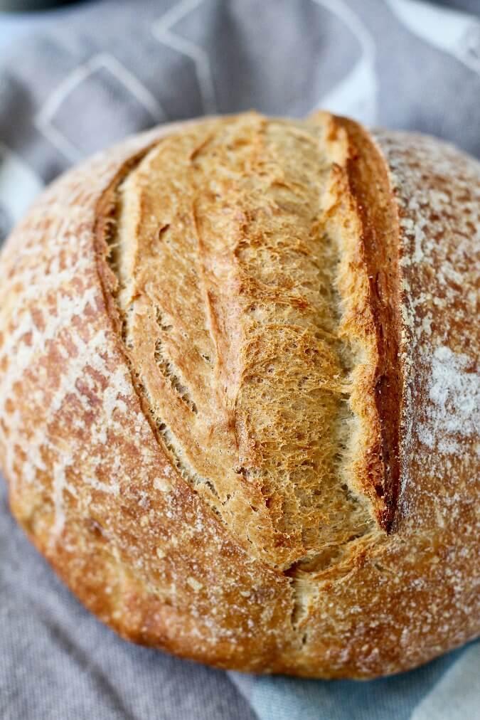 Whipped Spelt Bread oven spring