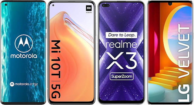 Motorola Edge vs Xiaomi Mi 10T vs Realme X3 Super Zoom vs LG Velvet 4G