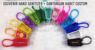 Souvenir Hand Sanitizer + Gantungan Karet Custom untuk Souvenir Natal Era Pandemi