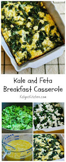 Kale and Feta Breakfast Casserole from KalynsKitchen.com
