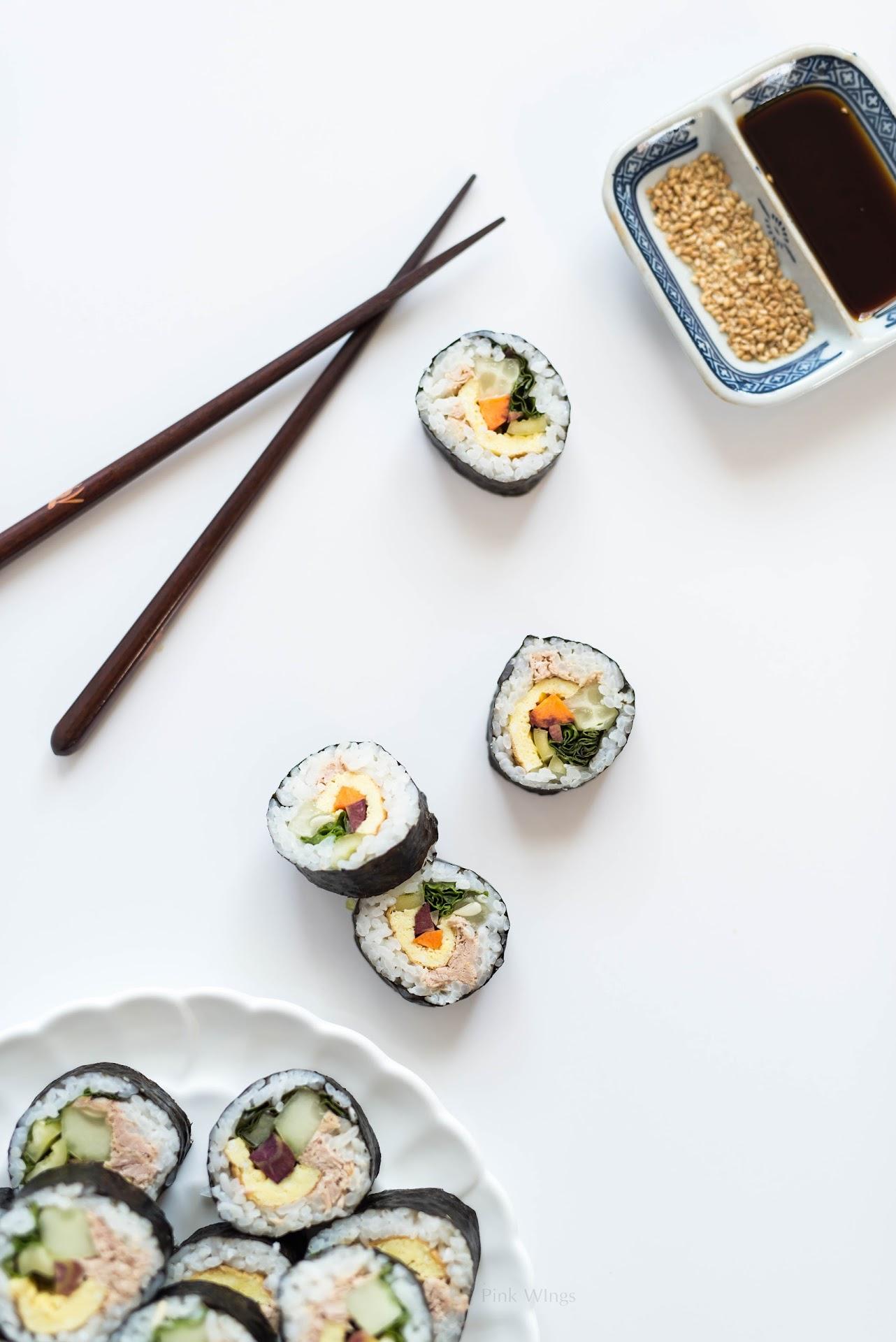 kimbap recipe, korean food blog, korean blogger, lds, mormon, asian, asian food, sushi, healthy snack, nutritious, farm fresh to you review