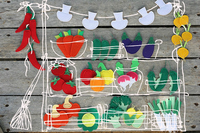 Felt fruits and veggies by TomToy
