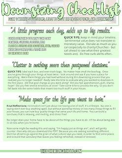 bohemian catholic downsizing checklist printable