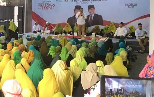 Emak-emak Diimbau Jaga Suara Prabowo-Sandi di Setiap TPS