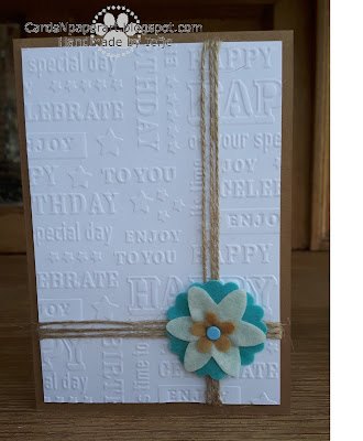Embossing folder Die'sire: Birhtday text