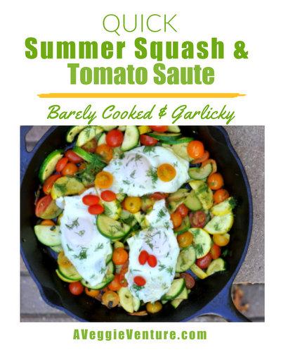 Quick Summer Squash & Tomato Sauté, another easy summer vegetable recipe ♥ AVeggieVenture.com
