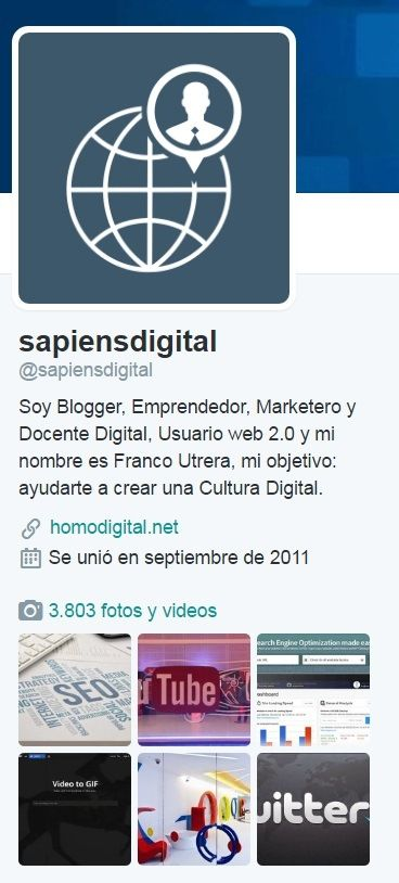 Sapiensdigital en Twitter.