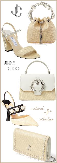 Jimmy Choo Natural Raffia Shoe & Bag Collection #brilliantluxury