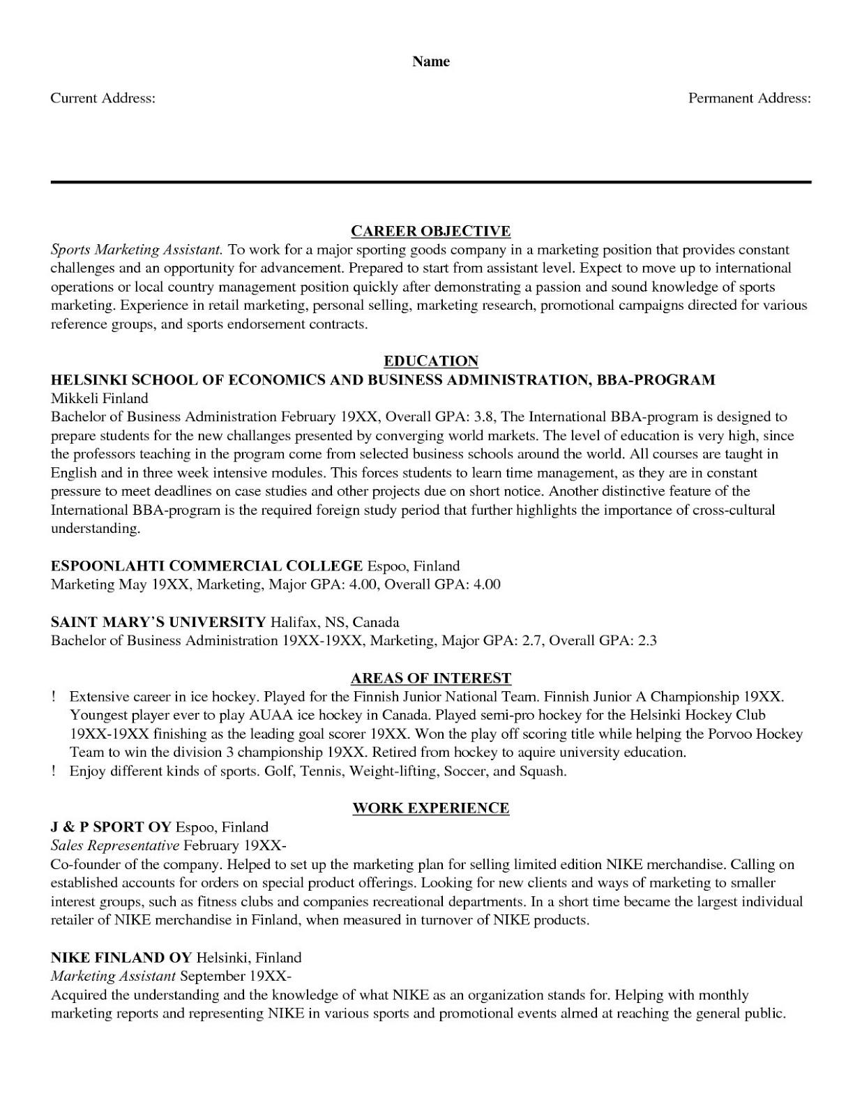 General Job Resume Objective 2019 General Job Resume Format 2020
