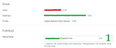 langkah 1 cara mengubah URL subdomain blogspot