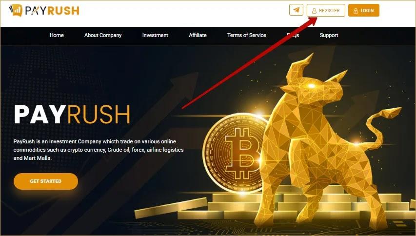 Регистрация в PayRush
