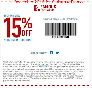 Famous Footwear coupons december 2016