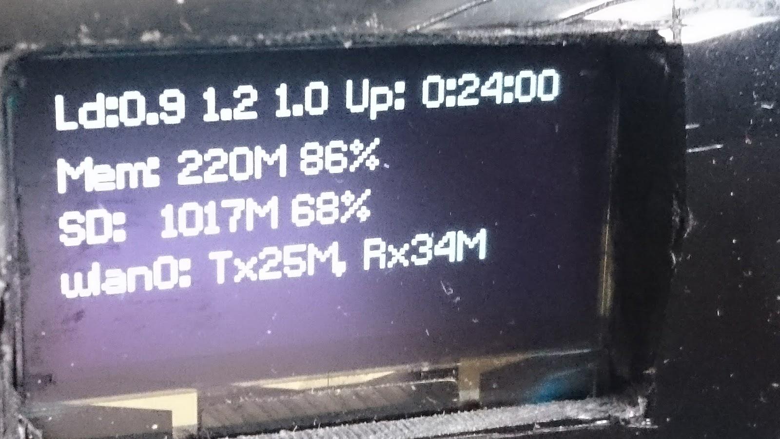 RaspberryPi - Volumio - OLED Display (1 3