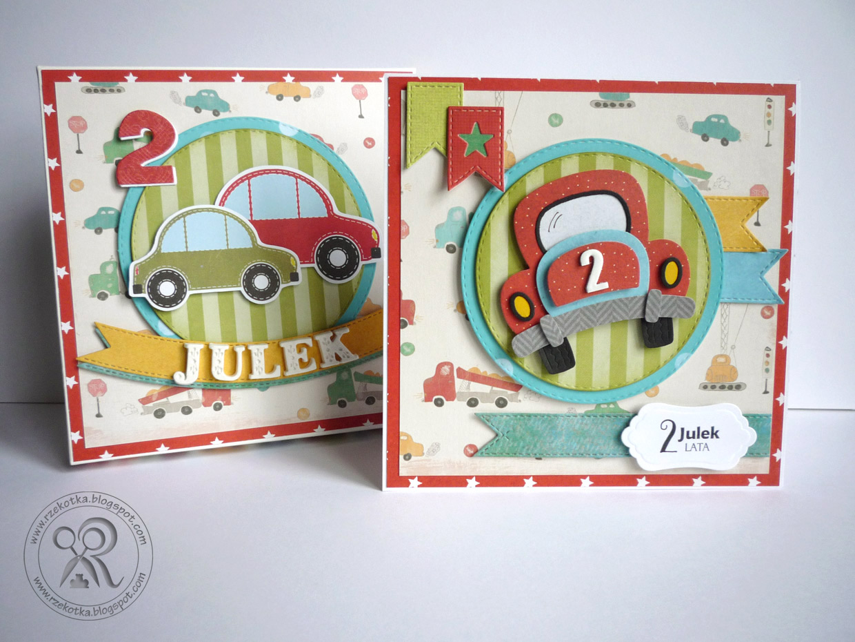 Kartka urodzinowa z autkiem