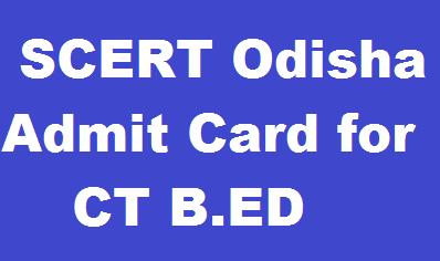 SCERT Odisha  Admit Card 2019