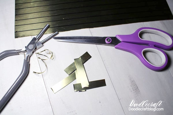 How to cut and make a brass flange for an oblique calligraphy pen holder.