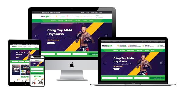 Template blogspot bán hàng dụng cụ thể thao MetaSport