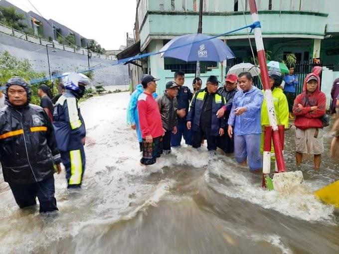 Walikota Tinjau Banjir dan Longsor di Perum Tirta Mandala