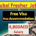 Jobs In Dubai For Fresher  2019 | With Free Visa | Fresher Jobs In Dubai |