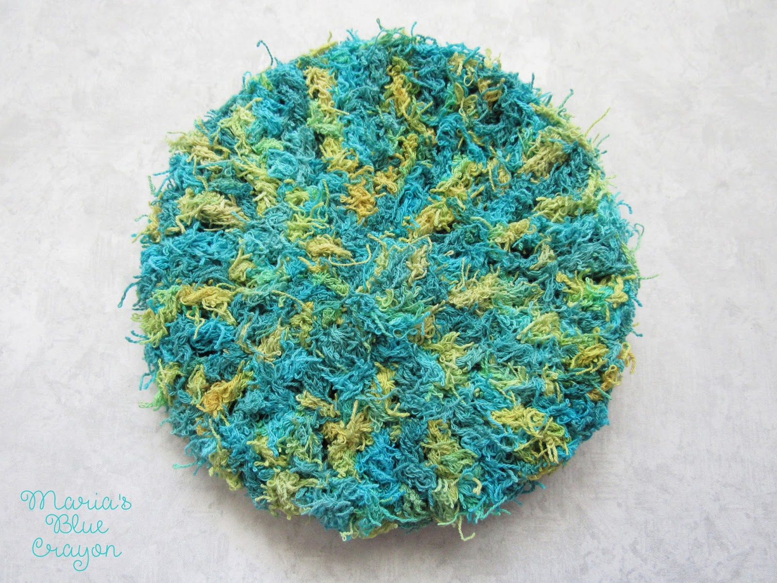 Double Sided, Extra Thick Scrubby for Bath & Kitchen - Maria\'s Blue ...