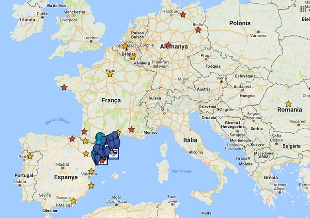 Llocs d'Europa visitats