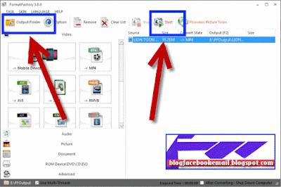 cara menggunakan software  format factory dengan benar