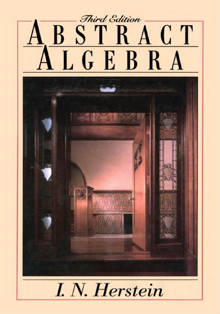 Abstract Algebra, 3rd Edition – S. N. Herstein