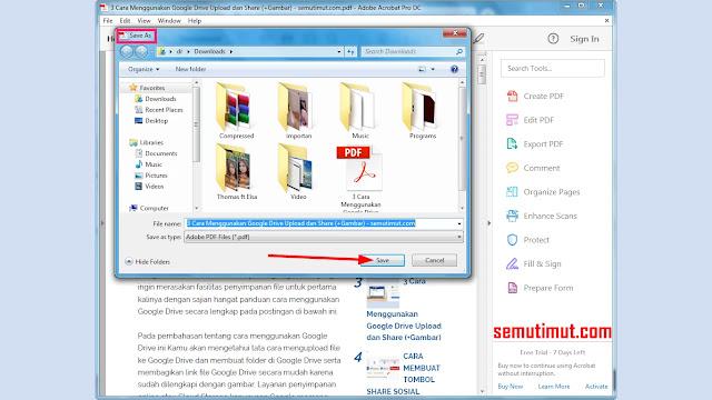 cara kompres pdf di adobe acrobat reader dc