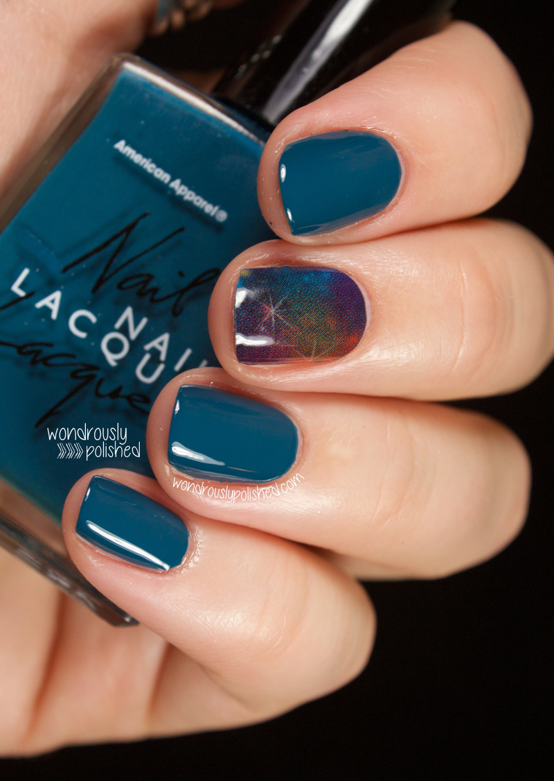 "One Nail To Rule Them All A Bit Too Much Neon: Wondrously Polished: Jamberry Nails In ""Galactic"""