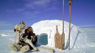 Igloo costruito dagli inuit