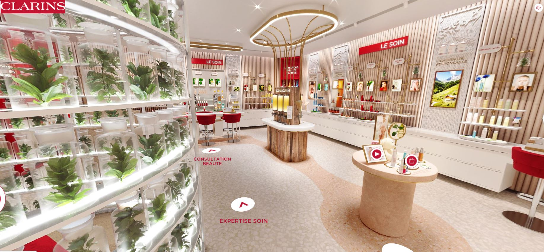 avis et test virtual store concept retail clarins