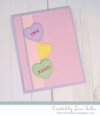 Candy Heart Love card-designed by Lori Tecler/Inking Aloud-dies from Lawn Fawn