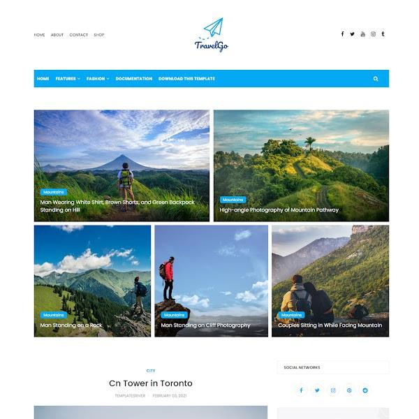 TravelGo - Travel & Lifestyle Responsive Blogger Template
