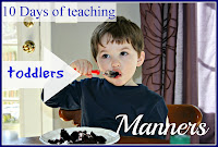 10 days of teaching toddler manners Lara's Place and a Cup of Grace