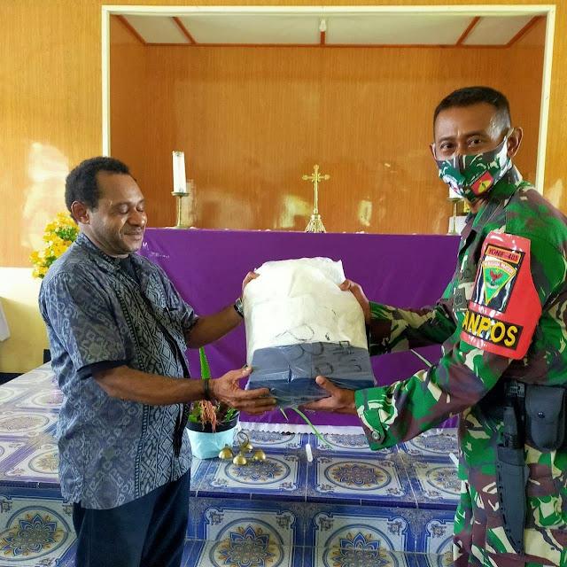 Satgas TNI Yonif 403/WP Turut Serta Dalam Rangkaian Kegiatan Perayaan Paskah di Papua